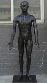 现代十四经穴针灸铜人模型(真铜全铜、58黄铜材质)
