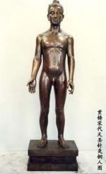 仿宋天圣针灸铜人 (真铜全铜、58黄铜材质)